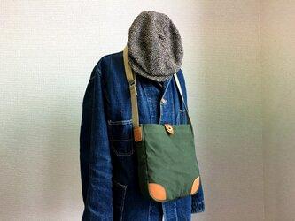 トラッドポケットショルダーバッグ(ドーナツボタン仕様)の画像