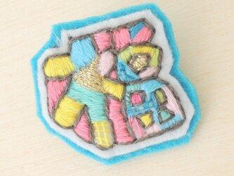 #イロカラ刺繍ブローチ IMB007の画像