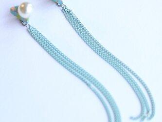 △ chain mint ピアスの画像