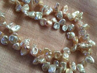 淡水真珠二連ネックレスの画像