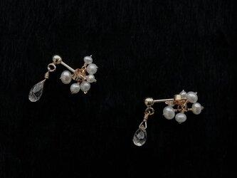[ symphonie ]  ジルコン fleur de la perle(天然石/K14gf)の画像