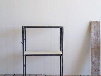 シェルフ・ラック【アイアンシェルフ/Iron shelf/2段/シャビー加工】の画像