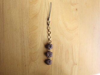 山葡萄ストラップ 花結び の画像