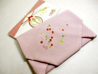 祝い袱紗(さくらんぼ・ピンク色)の画像