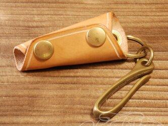 レザーキーケース -ヌメ革の画像