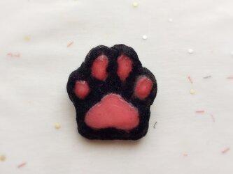 ネコちゃんの肉球*クロネコの画像