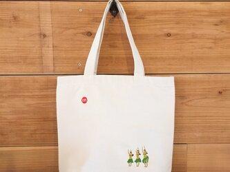 HULA 刺繍 キャンバストート(大)の画像