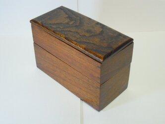 杢のきれいな長方形の2段弁当箱の画像