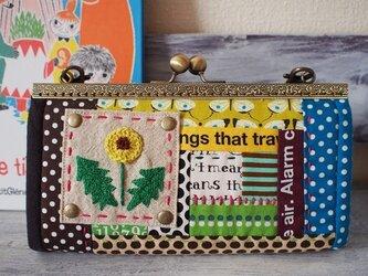 タンポポちゃんのガマ口長財布 持ち手つきの画像