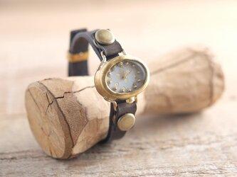 【受注生産】まるいゆらぎの時計 O dot white Y002の画像