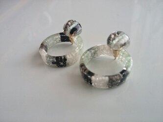 【再販】送料無料『ring』catch pierce /wakabaの画像