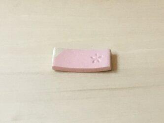 桜色の箸置き(印花)の画像