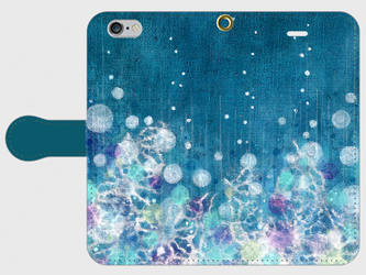 iPhone/手帳型スマホケース「雨降る」(受注生産)の画像