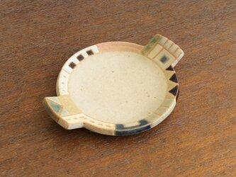 幾何学文様豆皿(丸)(No.261)の画像