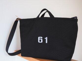 帆布✽ショルダーバッグ(黒)の画像