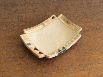 幾何学文様豆皿(角)(No.263)の画像