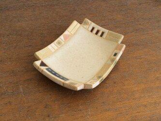 幾何学文様豆皿(角)(No.264)の画像