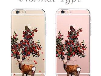 鹿椿プリントケース iPhone7 iPhoneケース各種 アンドロイドの画像