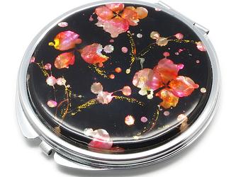コンパクトミラー 天然貝仕様(桜・SAKURA)<螺鈿アート>の画像
