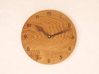 掛け時計 丸 楢材⑭の画像