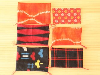 着物生地の手縫い飾り布。の画像