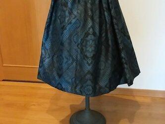大島紬のタック付きスカート ~ 裏地付き。  1点品の画像