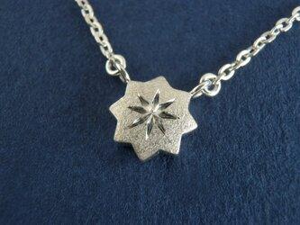 銀の星 ネックレスの画像
