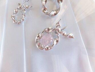 Silver Pendant (Twisted - Morganite )の画像