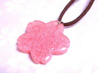 桜貝の桜型ペンダント・大の画像