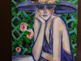 カシニョール「バラ」模写の画像