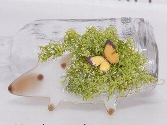 ハリネズミさんの春ブローチの画像