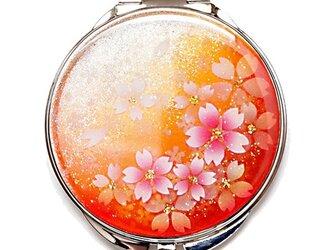 丸ミラー 橙桜 コンパクトミラーの画像