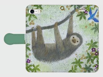 iPhone/手帳型スマホケース「スローライフ」(受注生産)の画像