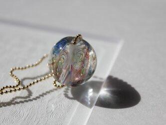 蜻蛉玉*虹色ネックレス〈陽炎〉〈A-21〉の画像