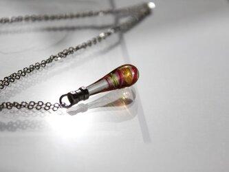 〜炎の螺旋〜 雫玉のネックレスの画像
