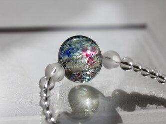 蜻蛉玉と水晶のネックレス ーArt Blossom2015ー〈A-22〉の画像