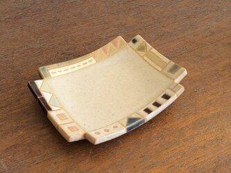 幾何学文様豆皿(角)(No.270)の画像