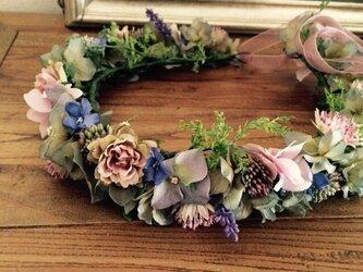 アンティークローズの花冠の画像