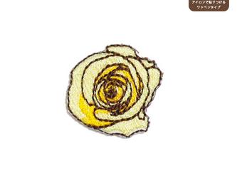 バラのワッペンM(クリーム)の画像