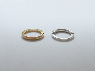 <NOVEC> SILVER Two Faced RINGの画像
