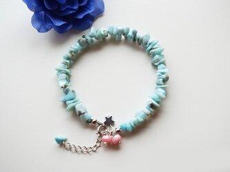 ラリマー ブレスレット Larimar bracelet B0038の画像