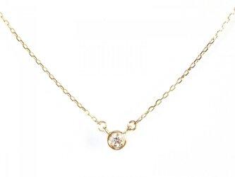 K10 Bezel Diamond Necklaceの画像