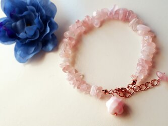 ローズクォーツブレスレット Printemps cherry Blossoms bracelet B0020の画像