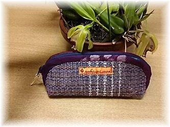 売り切れ・裂き織り・ME-1薄紫のメガネケースの画像