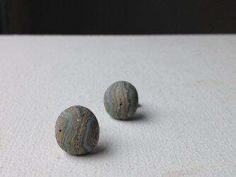 陶器ピアス 縞Bの画像