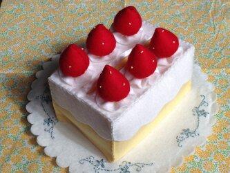 ティッシュケース ショートケーキの画像