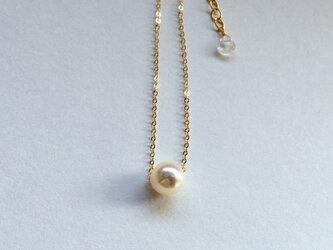あこや真珠のひとつぶネックレスの画像