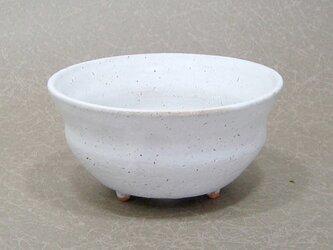 白マット 段小植木鉢の画像