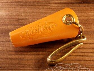 レザーキーケース -オレンジの画像