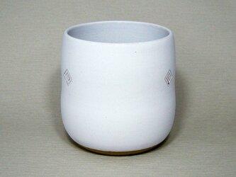 白マット だるま植木鉢の画像